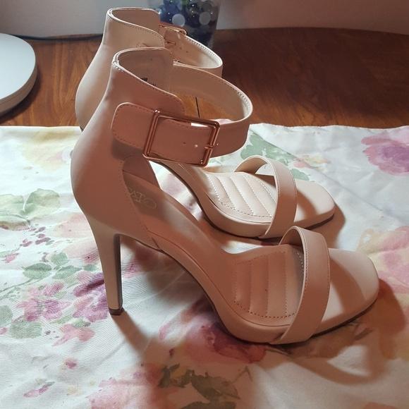 Wide Width Ankle Strap Heels
